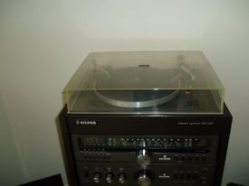 silver stereo system 100 hi fi in good condition