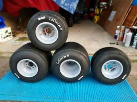 Go kart Genuine OTK Mag Rims &LeCont Tyres 130mm×210mm