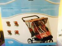 Baby jogger DOUBLE city elite/carry bag/rain cover (for TWINS)