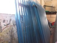 Palisade Fencing colour Blue for sale at a good price.