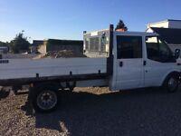 Crew cab ford transit tipper