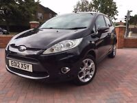 Free 3Mths Wrnty & AA Brkdn Cvr,Ford Fiesta 1.4 TDCI Zetec Diesel Black Manual , £20 Road Tax, FSH