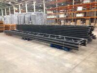 job lot 50 bays of dexion pallet racking 2.4 meters high( storage , industrial shelving )