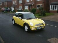 2002 MINI COOPER 1.6 PEPPER PACK 3DR YELLOW FSH MOT-17 OUTSTANDING CHEAP FREE-DELIVERY @BARGAIN CARS