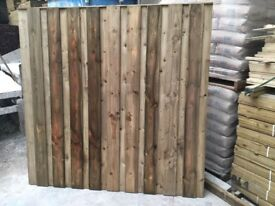 Under & over fence panels pressure treated