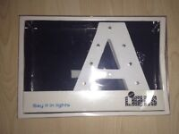 LED Letter 'A' - Lights Up