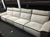 New/Ex Display LazyBoy Large 4 Seater Recliner sofa + Double Recliner