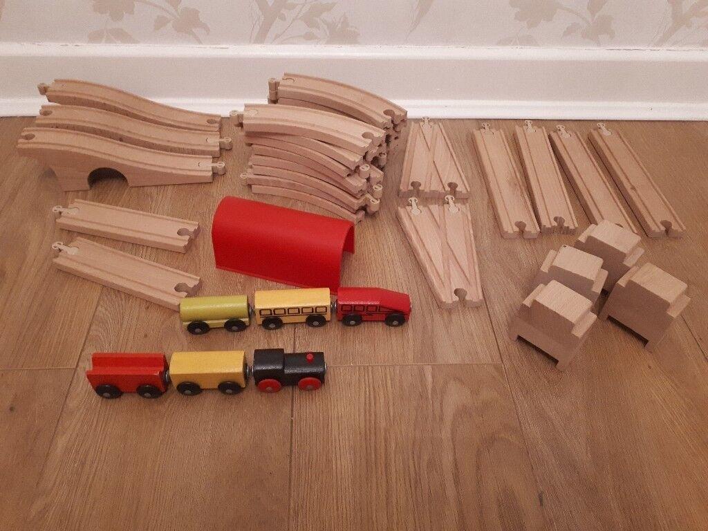 Ikea wooden train track set