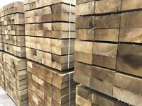 🍄 WOODEN PRESSURE TREATED RAILWAY SLEEPERS ~ NEW