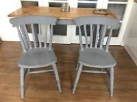 GENUINE VINTAGE TABLE OAK AND 2 CHAIRS 🇬🇧 FREE DELIVERY 🇬🇧
