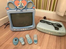 DISNEY CINDERELLA TV AND DVD PLAYER