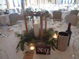 10 Large Wood and Glass Wedding / Homeware Decorative / Florist Lanterns REDUCED!!