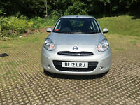 2012 NISSAN MICRA ACENTA CVT SILVER AUTO 1.2 LOW MILEAGE ONE OWNER FROM NEW FULL SERVICE YEAR MOT