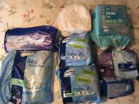 Bed pads and feminine pads
