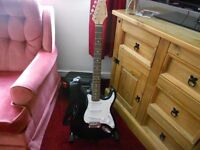 burswood six string electric guitar plus stand