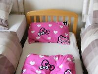 Child;s toddler bed Mammas and Pappa well made includes mattress and bed clothes