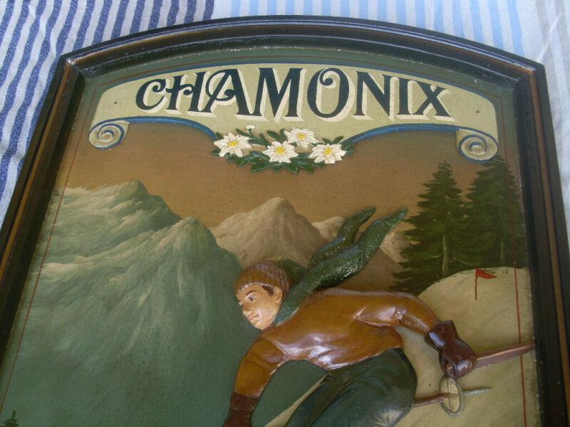 Vintage 3D Oil Painted Chamonix Country Corner