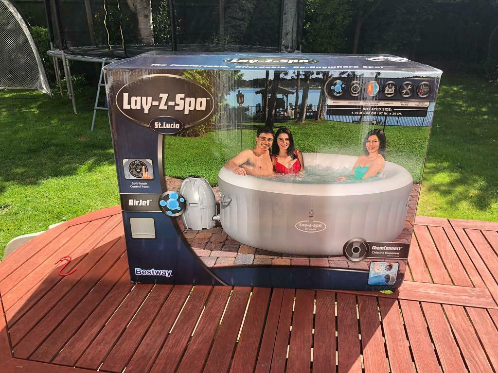 Lay Z Spa St Lucia Brand New In Box Lazy Hot Tub Lazy Spa With