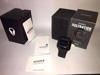 Nixon Original Ultratide A476-001 All Black Silicone Watch