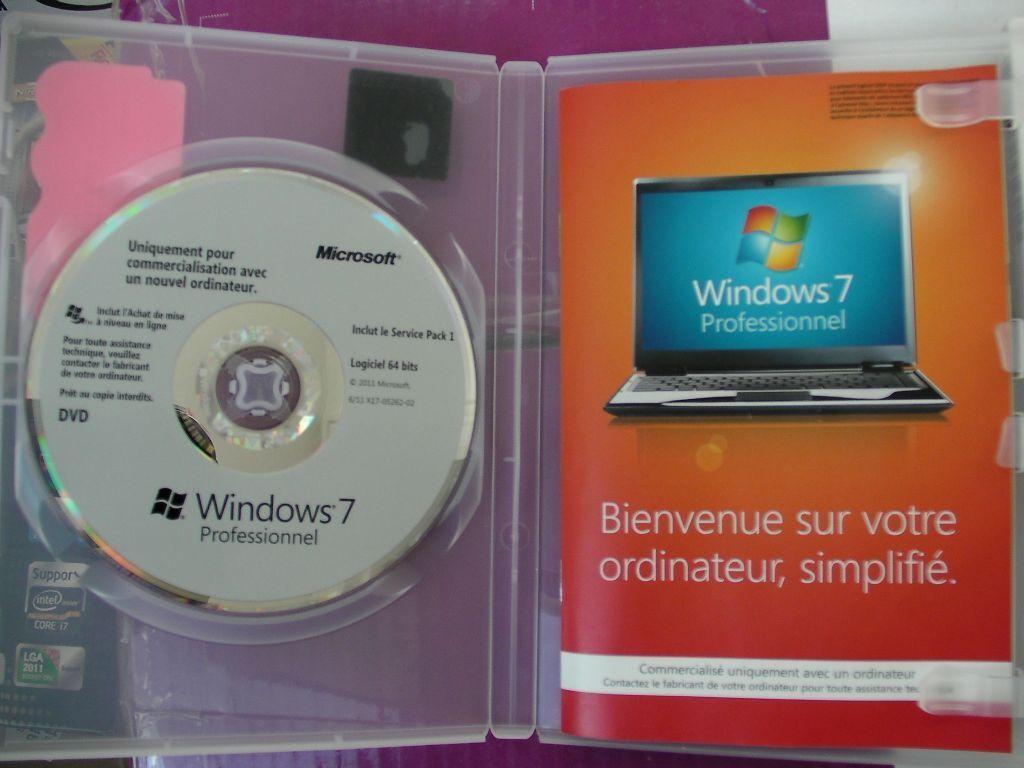 original genuine windows 7 professional sp1 64 bit disk. Black Bedroom Furniture Sets. Home Design Ideas