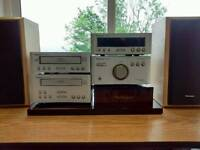 Technics amp tuner cd player and cassette