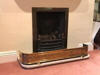 Edwardian Brass Fire curve