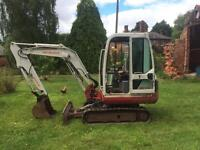 Mini digger takeuchi tb125