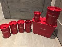 Red M&S kitchen set