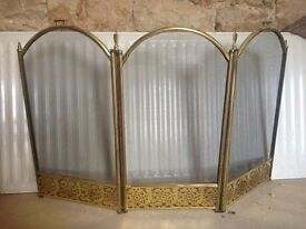 BRASS FIRE GUARD SCREEN - USED £15