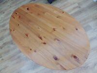 Large Pine Coffee Side Table oval with Shelf VGC Shabby Chic upcycle restoration