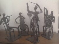 Brass 5 peice band figures
