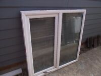 UPVC Window frame with glass ..120cm x 120cm ..Ideal for sheds,conservatory, Etc.