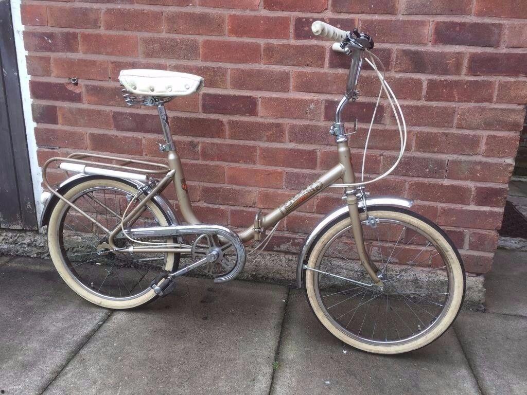 Vintage city folding bike (adults), 3 speed