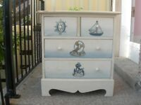 Small Chest of Drawer for Children - Nautical Theme