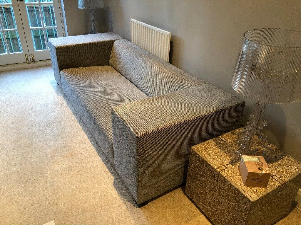 light grey sofa from designers guild in kilburn london gumtree. Black Bedroom Furniture Sets. Home Design Ideas