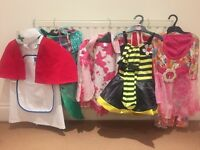 Girls Dressing up selection- 16 outfits plus lots of extras. Age 4-10 approx Excellent value