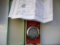 Poljot manual wind mechanical chronograph wristwatch - Russia 3133 - '00 - New old stock