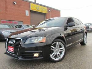 2012 Audi A3 2.0T Progressive, S Line, Leather, Pano Sunroof, o