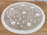Cream and beige star nursery rug