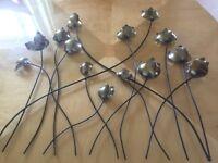 Wall art metal flowers