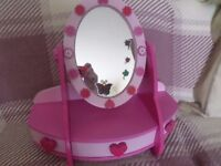 CHILD'S PINK WOODEN VANITY UNIT