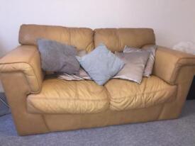 Cream leather sofa FREE