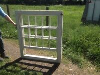 Sash window (brand new) with glass. Weighted.