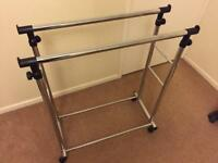 Double Clothes Rail - adjustable height