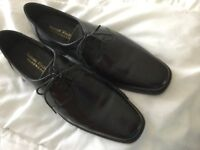 Men's black leather lace up shoes. Brand new never worn Size 10