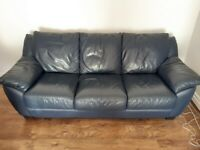 Leather couch and 2 armchairs
