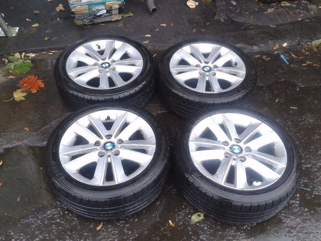 GENUINE BMW 3 SERIES,`1 SERIES 17 INCH ALLOY WHEELS & TYRES