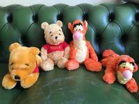 Genuine Disney Tigger & Pooh Teddies