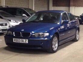 BMW 320d 2003 (03 REG)**£899**12 MONTHS MOT*BLACK LEATHER INTERIOR*DIESEL*PX WELCOME*DELIVERY