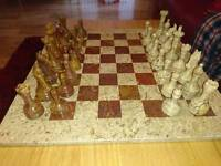 Marble chess set boxed